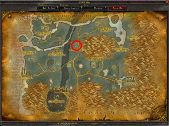 World of Warcraft - Quest - Goods from Silvermoon City